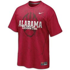 3568c177f Alabama Nike College Football Practice T-Shirt - Mens - Red-Varsity Crimson