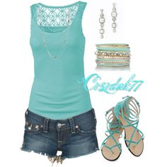 Summer Blue, created by crzrdnk77 on Polyvore