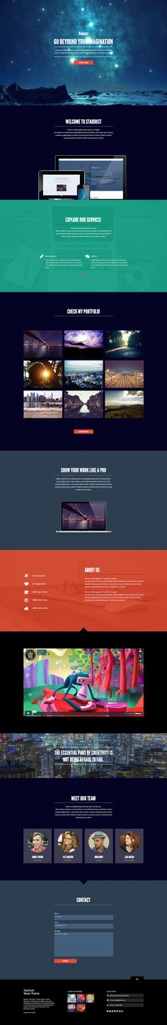 Stardust - One Page Muse Theme by styleWish.deviantart.com on @deviantART