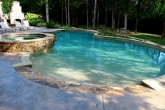 Lenoir City Pool Photos, Knoxville Custom Pool Design - Gunite Pool with Beach Entry