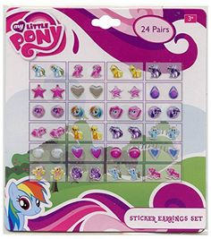 My Little Pony Girls 24 Pair Sticker Earrings Hasbro http://www.amazon.com/dp/B00UIBVLVS/ref=cm_sw_r_pi_dp_l6bYwb1Y9JR28