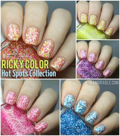 Ricky's RickyColor Nail Polish Hot Spots Collection Swatches, Review | via @glamorable