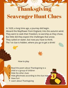 Learn about Thanksgiving History with this fun Thanksgiving Scavenger Hunt Riddles Thanksgiving History, Diy Thanksgiving, Scavenger Hunt Riddles, Treasure Hunt Clues, Thank You Notes, Printed Materials, Kids Learning, How To Memorize Things