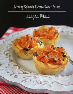 Lemony Spinach Ricotta and Sweet Potato Lasagna Petals @DandelionGBlog