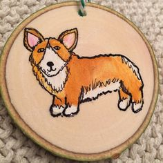 Fun new corgi ornament from my dog-loving home in the Rockies.