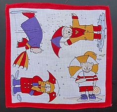 Child's Hanky Hankie – Bears with Umbrellas. Click on the image for more information.