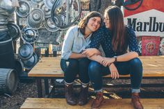 Lower Greenville. Lesbian Engagement Photos. Steph Grant Photography.