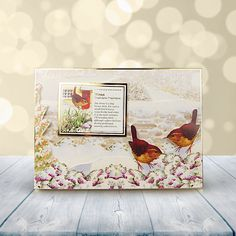 Festive Birds of Britain Topper Set - Tree Sparrow & Wren | Hunkydory Crafts