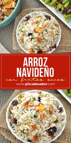 navideño arroz Arroz navideñoYou can find Recetas navideñas and more on our website Caldo Recipe, Holiday Recipes, Dinner Recipes, Mexican Food Recipes, Ethnic Recipes, Xmas Food, Dinner Is Served, Heart Healthy Recipes, Casserole Recipes