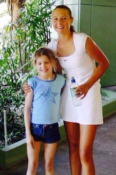 Genie #Bouchard and Maria #Sharapova (together over a decade ago!)