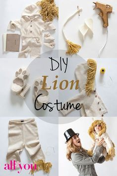 How to make a DIY lion #Halloween costume Upsized a million times for ME!