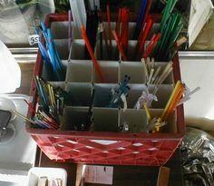 Plastic tubes / organize glass colors - WetCanvas