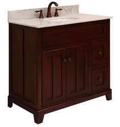 Sunny Wood Gh3621d Grand Haven 36 Maple Vanity Cabinet Only Fixture