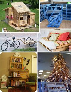 Art of Upcycling: 20 DIY Wood Pallet Reuse Project Ideas | WebEcoist: Cool things to do with wood pallet sbesides burning them in your camp fires. :p
