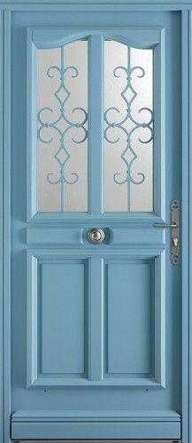 majorque porte d 39 entr e bois classique mi vitr e bel 39 m j 39 aime bien la grille bel 39 m le. Black Bedroom Furniture Sets. Home Design Ideas