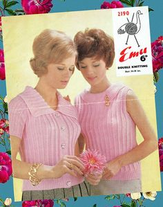 Original 1960s Womens Ladies Knitting Pattern Twin Set Fitted