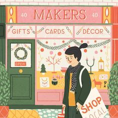 """1,347 Likes, 14 Comments - Ruby Taylor (@rubyst) on Instagram: """"Pick up @molliemakes issue 85 and you can see my illustration for a great article about shopping at…"""""""
