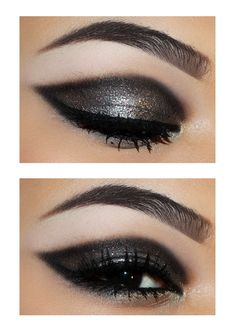glitter smoky eye