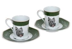 Hermès Scottish Terrier Teacups