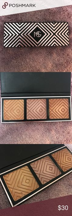 Makeup Geek Kathleen Lights Highlight Palette Makeup Geek Kathleen Lights Highlight Palette. Used the first shade twice and my nail accidentally dug the edge a little. Only Swatched the 2nd and 3rd shade. Still in great condition, I just prefer lighter color highlights. No Trades. Price firm Makeup Geek Makeup Luminizer