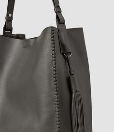Women s Pearl Hobo Bag (Dark Grey) - product image alt text 7 Allsaints Bags,  Leather Handbags, 686edbc4bf