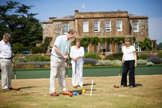 A game of croquet out on the lawn
