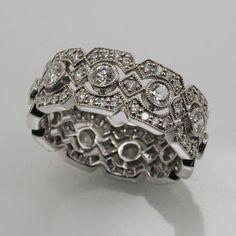 Vintage pave diamond ring