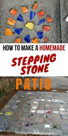How to Make a Homemade Stepping Stone Patio. Would you love to have a unique and personal place to hang out in the yard? You can make your own unique homemade stepping stone patio. We handcrafted our patio, and we LOVE it! It's a great place to gather.