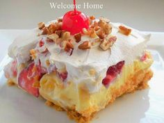 Welcome Home: ♥ Banana Split Dessert