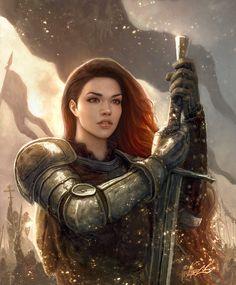 f Fighter Plate Armor Greatsword battle eastern border Warrior girl med Fantasy Warrior, Fantasy Girl, Warrior Girl, Warrior Princess, Warrior Women, Fantasy Fighter, Warrior Angel, Fantasy Art Women, Fantasy Wesen