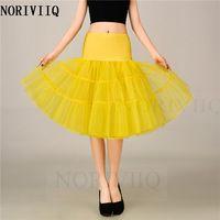 NORIVIIQ Retro Short  Petticoat Swing Vintage Tutu Bridal Underskirt Yellow Skirt Slips Crinoline Woman Wedding Dress HWCF