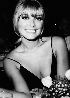"""A happy Sharon Tate   later murdered by Charlie Manson's """"Family"""" Members."""