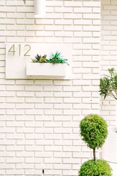 Porches, White Porch, Michael Scott, Plant Needs, Beautiful Mess, Edible Flowers, House Numbers, Home Look, Exterior Paint