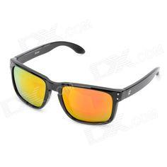 2f337f6e75 OREKA UV400 UV Protection Fashion Brown Resin Lens Polarized Sunglasses -  Black Polarized Sunglasses