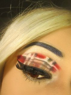 Limitless: Plaid Makeup Creative Colour, Creative Makeup, Beauty Hacks, Beauty Tips, Eyeshadow Looks, How To Apply Makeup, Tartan Plaid, Color Names, Tweed