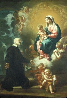 Apparition of the Virgin to Saint Philip Neri // 18th Century // Etienne Parrocel // Etienne Parrocel