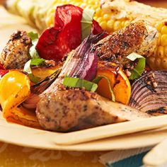 Chicken Sausage with Charred Peppers and Onions - Fitnessmagazine.com