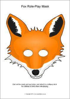 Fox role-play masks (SB880) - SparkleBox