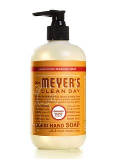 Orange Clove Liquid Hand Soap from Mrs. Meyer s Clean Day  (Methylisothiazolinone free, but e9ff722a6a