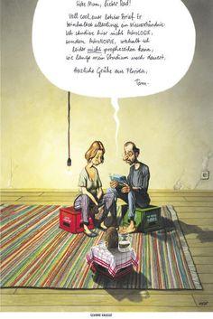 """Haderer-Karikatur vom 13. Juni 2015: """"Schöne Grüße"""" Mehr Karikaturen auf: http://www.nachrichten.at/nachrichten/fotogalerien/cme14862,1286094 (Bild: Haderer)"""