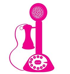 Retro Telephone in Hot Pink by TrulyVeraDesigns on Etsy, $16.00- hot pink and retro! love it.