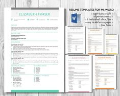 Resume Objectives For Sales Excel Simple  In  Word Resume Templates By Inkpower On Creativemarket  Home Depot Resume with Educator Resume Excel Simple  In  Word Resume Templates By Inkpower On Creativemarket   Beautiful Resume Design Template  Pinterest  Modern Resume Template Team Player Resume