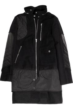 ALEXANDER WANG  Leather-paneled cotton-blend utility coat  $1,175