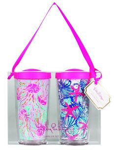 Lilly Pulitzer Insulated Tumbler Set - Jellies Be Jammin & She She Shells