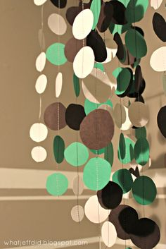 diy mobile - sew the circles on