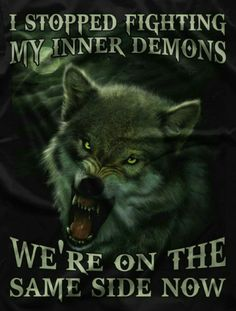 Now I really am on my demons side Dark Quotes, Me Quotes, Motivational Quotes, Funny Quotes, Inspirational Quotes, Wolf Qoutes, Lone Wolf Quotes, Wolf Love, Wolf Pictures