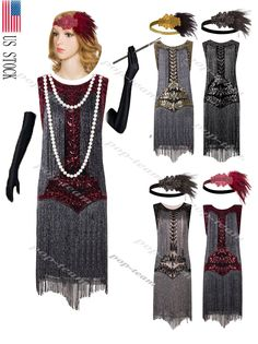 29ade374c8c3 Vintage 1920s Flapper Fringe Dress Gatsby Party Retro 20s Prom Costumes  Clubwear. Dámska Móda