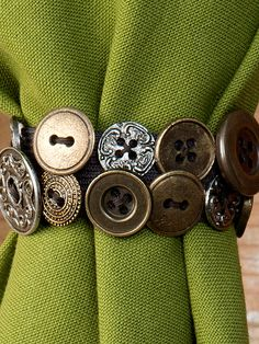 Antique Button Napkin Ring Set/4 | Table Linens & Kitchen, Napkins & Napkin Rings :Beautiful Designs by April Cornell