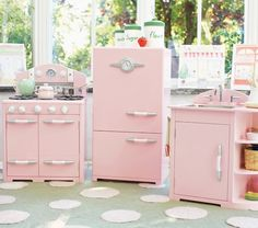Retro Kitchen Sink, Icebox & Oven Set, Pink | Pottery Barn Kids