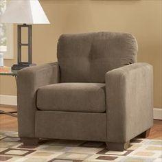 Kreeli-Toffee Microfiber Chair | Nebraska Furniture Mart